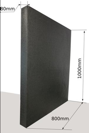 Block EPP 1000x800x80 80g/l black