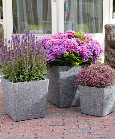 Flower pot IQBANA CONICAL 250 Grey