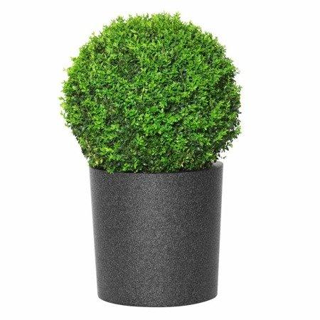 Flower pot IQBANA ROUND 390 black