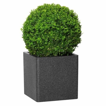Flower pot IQBANA SQUARE 390 black