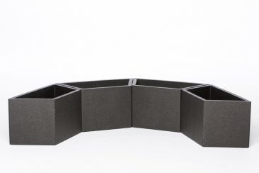 Flower pot IQBANA TRAPEZIUM Grey