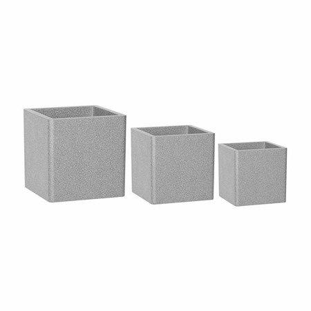 Ein Set von 4 IQBANA SQUARE Töpfen - Grau