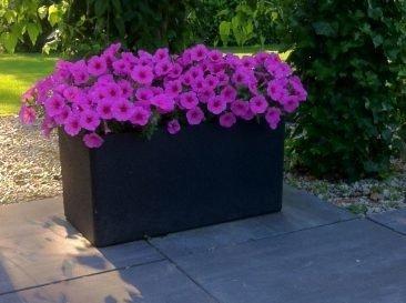 Set mit 2 Blumentöpfen IQBANA RECTANGLE Grau