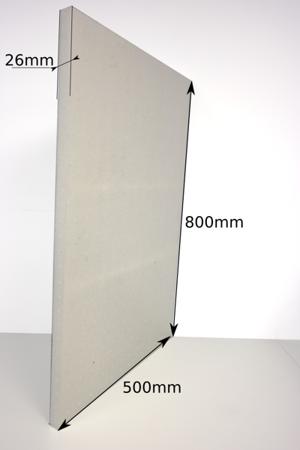 Płyta 800x500x26 60g/l czarna